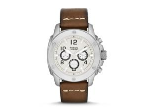 Fossil Machine Quartz Analog White Dial Men's Watch FS4929