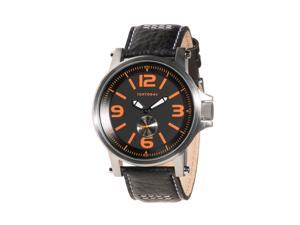 TOKYObay Agent Quartz Analog  Black with Orange accent Dial  Men's Watch T807-BK
