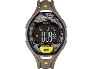 Timex Sport Ironman Sleek 50 Full-Size TW5M01300 Taupe / Black Resin Digital Quartz Unisex Watch