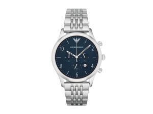 Emporio Armani Dress AR1942 Navy/Silver Stainless Steel Analog Quartz Men's Watch
