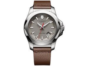 Victorinox Swiss Army I.N.O.X. Leather 241738.1 Grey/Brown Leather Analog Quartz Men's Watch