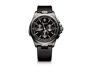 Victorinox Swiss Army Night Vision Chronograph 241731 Black/Black Rubber Analog Quartz Men's Watch