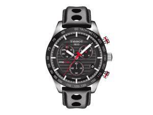 Tissot PRS 516 Quartz Chronograph T100.417.16.051.00 Black/Black Leather Analog Quartz Men's Watch