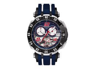 Tissot T-Race Nicky Hayden 2016 T092.417.27.057.03 Blue with Camouflage/Blue with White Stripe Rubber Analog Quartz G10.212 Men's Watch