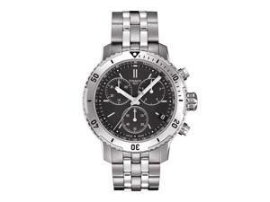 Tissot PRS 200 T067.417.11.051.01 Black/Silver Stainless Steel Analog Quartz G10.212 Men's Watch