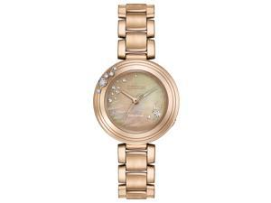 Citizen Citizen L Carina EM0463-51Y Brown Diamond/Rose Gold Stainless Steel Analog Eco-Drive Women's Watch