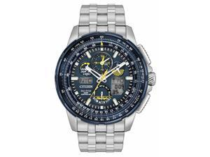 Citizen Blue Angels JY8058-50L Blue / Silver Stainless Steel Analog Eco- Drive Men's Watch