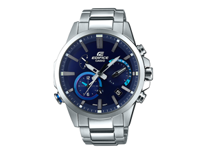 Casio EDIFICE EQB-700D-2A Blue / Silver Stainless steel Analog Quartz Men's Watch