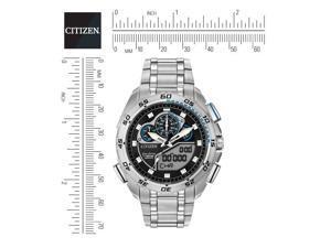 Citizen Mens 44mm Chronograph Silver Steel Bracelet & Case Watch JW0110-58E