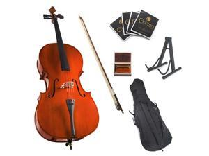 Cecilio 3/4 CCO-100 Student Cello with Soft Case, Bow, Rosin, Bridge, Strings and Cello Stand