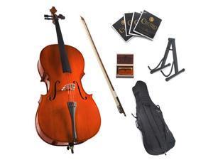 Cecilio 1/2 CCO-100 Student Cello with Soft Case, Bow, Rosin, Bridge, Strings and Cello Stand