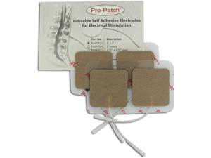 Pro-Patch TENS Unit 2x2 Square Electrode Pads, Tan Cloth - 4 ea