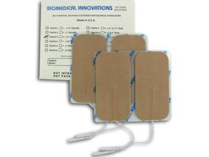 TENS Unit Premium Silver Electrodes 1.75x3.75 in Rectangle, Tan Mesh Backed - 4 ea