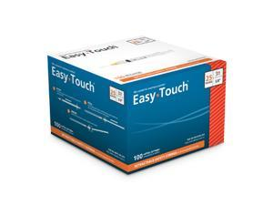 Easy Touch 25 Gauge 3 cc 5/8 in Retractable Safety Syringe w/ Exchangeable Needle 100 ea