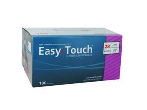 Easy Touch Insulin Syringes 28 Gauge .5cc 1/2 in - 100 ea