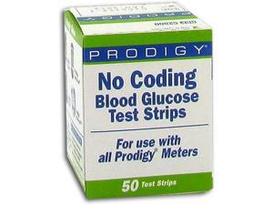 Prodigy No-Coding Blood Glucose Test Strips - 50 ea