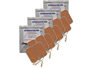 OTC TENS Electrodes 2x3.5 inch Rectangle, Tan Mesh Backed - 16 ea