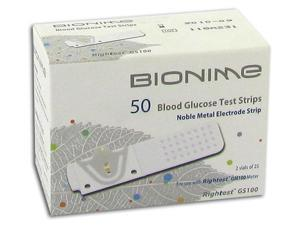 Bionime Rightest GS100 Blood Glucose Test Strips - 50 ea