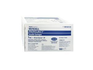 """Covidien Monoject Insulin 29G 1cc 1/2"""" (Model 8881601358)"""
