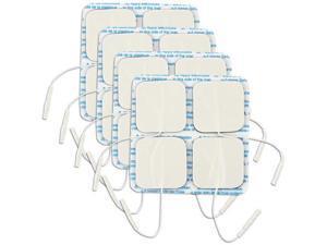 "2.00"" Square White Foam, Carbon Film Electrodes = 4 Total Electrodes"