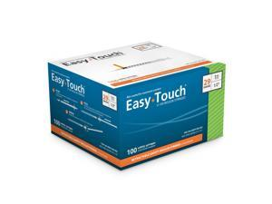 EasyTouch Retractable Insulin Safety Syringe w/ Fixed Needle 29 gauge 1cc 1/2 inch  100 ea. Model 862915