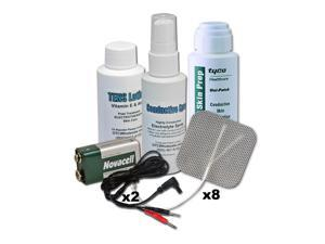 TENS Unit Accessories Kit, Pads, Wires, Spray, Lotion, Skin Prep & 9V Battery