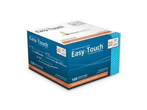 EasyTouch Retractable Insulin Safety Syringe w/ Fixed Needle 30 gauge .5cc 5/16 inch  100 ea. Model 863056