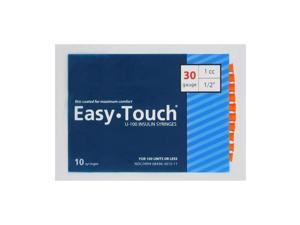 Easy Touch Insulin Syringes 30 Gauge 1cc 1/2 in - 10 ea.