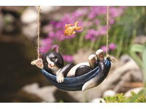 Day Dreamer Cat Hanging Statue
