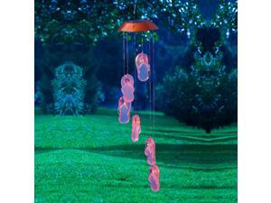Get Beachy With It Pink Flip Flop Lights Solar Powered Mobile