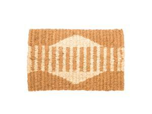 Patterned Natural Coir Mat, 18 x 30 inches