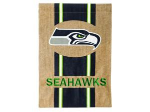 Burlap Seattle Seahawks Garden Flag, 12.5 x 18 inches