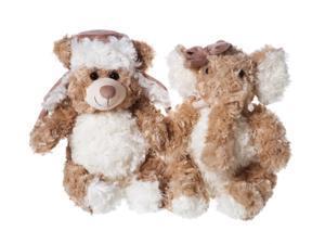 Bear and Elephant Cuddly Friends Stuffed Animal Set of 2