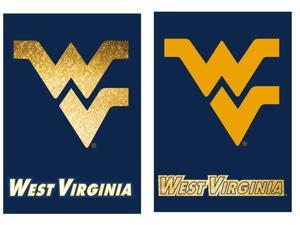 Suede West Virginia Mountaineers Two Sided Glitter Accented House Flag