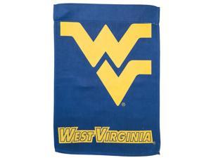 Suede West Virginia University Two Sided Glitter Accented Garden Flag