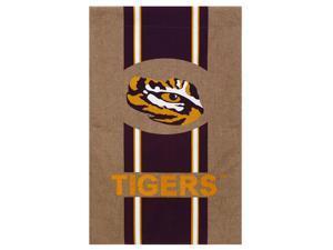 Burlap Louisiana State University House Flag, 29 x 43 inches