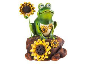 Landscape Melodies Whimsy Frog Outdoor Speaker Statue