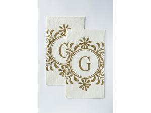 Cypress Home Embossed Monogram G Paper Guest Napkin, 90 count