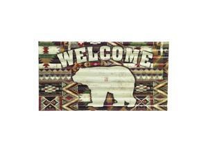 Cape Craftsmen Welcome Bear Corrugated Metal Sign