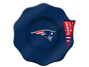 New England Patriots Hand-Painted Glass Dip Bowl with Charm