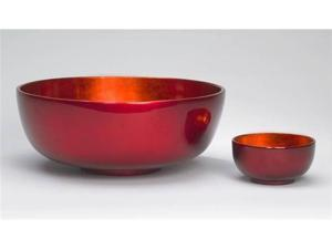J Fleet Designs Bowl in Orange / Red - Medium