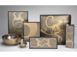 J Fleet Designs Gold Monkey Trays