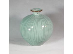 Legends of Asia Crackle Celadon Pomegranate Vase