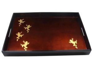 J Fleet Designs Gold Frog Big Tray