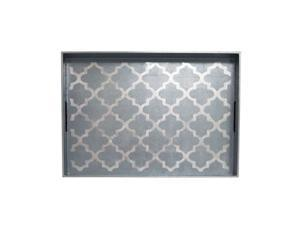 J Fleet Designs Arabesque Blue/Silver Big Tray