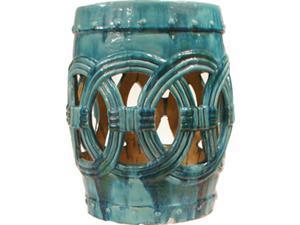 Medium Turquoise Circle of Life Garden Stool