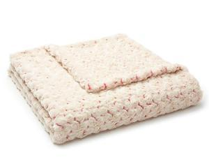 """Lux Two-Toned Pink/Cream Rosebud Throw-52"""" x 60"""""""