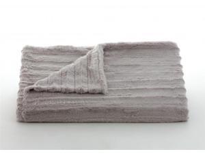 """Lux Channel Stripe Grey Rosebud Throw-52"""" x 60"""""""