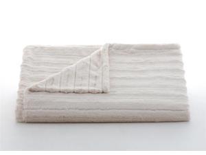 "Lux Channel Stripe Ivory Rosebud Throw-52"" x 60"""