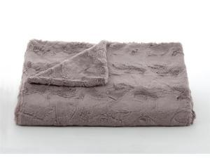 """Lux Minky Taupe Throw-52"""" x 60"""""""